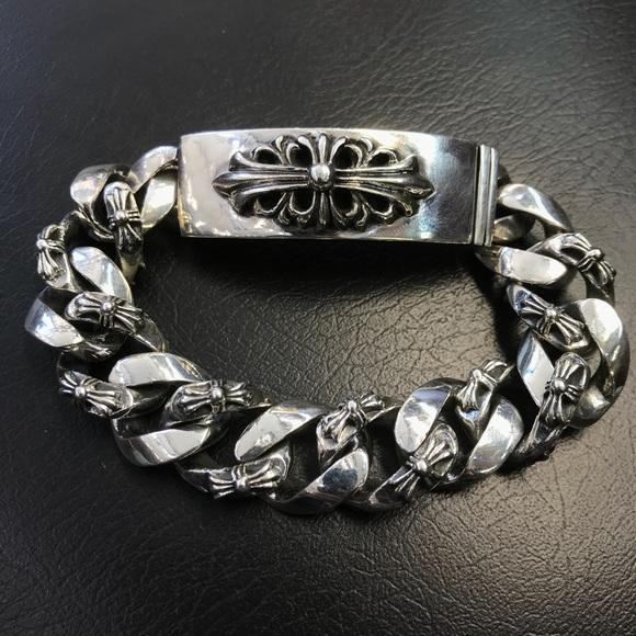 4ea3c350ce35 Chrome Hearts Other - Chrome Hearts Cross link ID bracelet